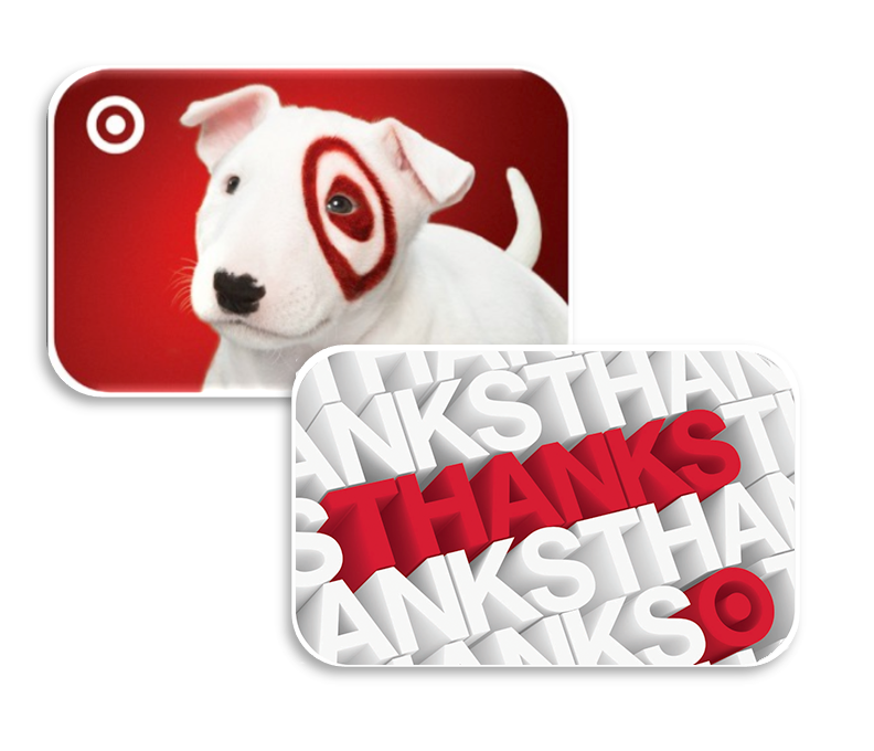 Example Target gift cards